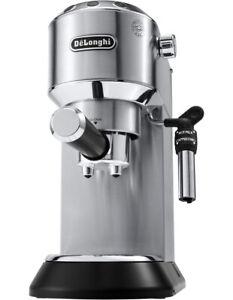 Delonghi Dedica Pump Coffee Machine: Stainless Steel EC685M