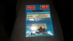 OO-N-OO9-Narrow-gauge-Peco-GR-101-102-103-104-105-Couplers-coach-bogies-wheels
