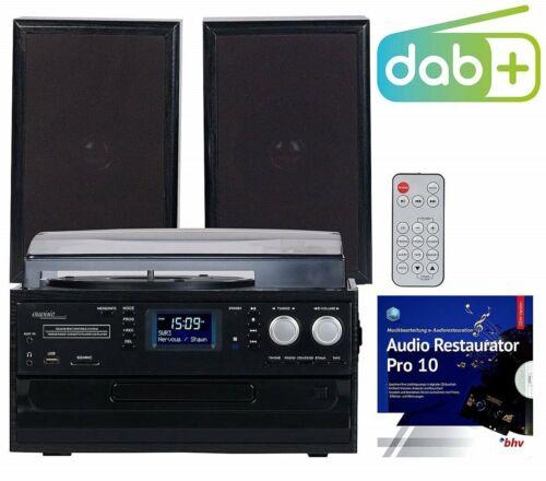 auvisio PLATTENSPIELER MHX-640.bt DAB+/FM-Radio Lautsprecher Bluetooth CD-Player
