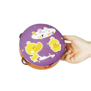 handheld tambourine hand drum percussion 4 sets jingles for kids 6 inch a3n6 ebay. Black Bedroom Furniture Sets. Home Design Ideas