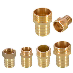 """1//2/"""" 3//4/"""" BSP Taper Thread x Hose Tail Pipe Brass Fitting for Air,Water,Fuel,Gas"""