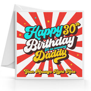 Image Is Loading Personalised 30th Birthday Card Male Son Grandson Nephew