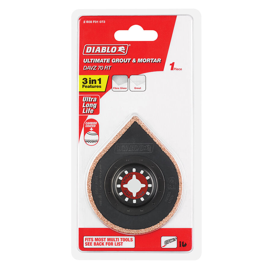 Diablo MULTI TOOL SEGMENT CUTTING BLADE 70mm Sanding Plate Ceramics, Long Life