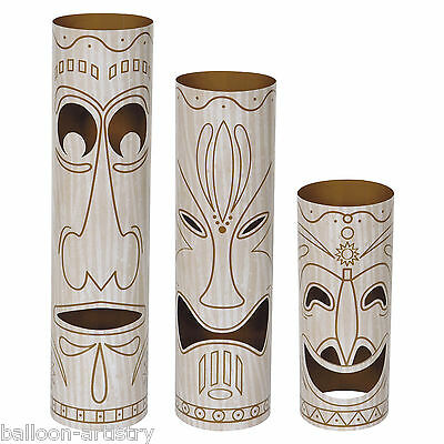 3 Assorted Tropical Luau Tiki TOTEM POLE Party Table Centrepiece Decorations