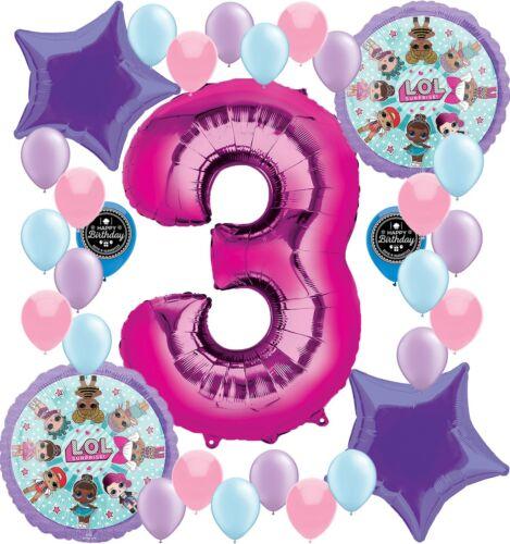 LOL Surprise Dolls Party Supplies Balloon Decoration Bundle 3rd Birthday Bouquet