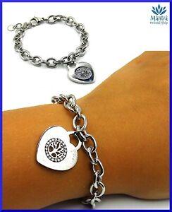 Bracciale da donna in acciaio inox catena cuore albero della vita braccialetto A