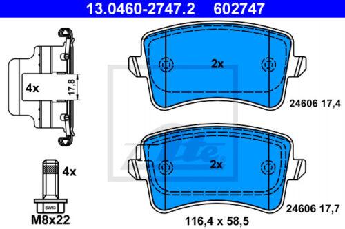 HA 8RB für AUDI Q5 ATE Bremsscheiben Beläge Hinterachse
