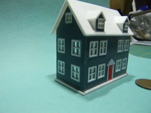 Miniature Doll/'s Dollhouse Blue in 1:12 doll scale