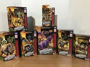Hasbro Takara Tomy Transformers Kingdom WFC Beast Wars Lot Of 7
