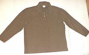 J-CREW-LONG-SLEEVE-GREEN-BUTTON-TOP-COLLARED-POLO-SIZE-L-K-6399