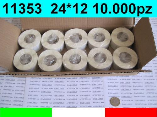 11353 10x Rolls Labels Compatible Dymo Labelwriter 24x12 mm S0722530