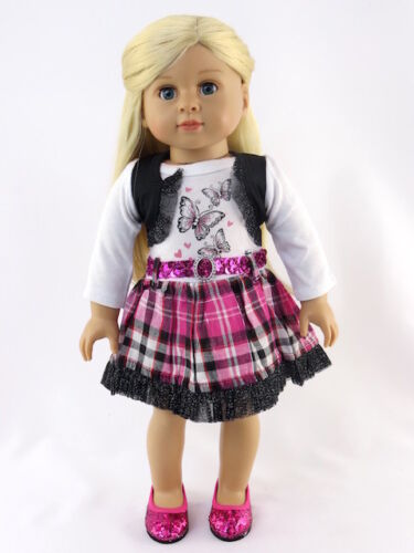Dress Butterflies For 18 in American Girl Doll Clothes Blouse