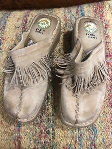 Western FRINGE Slip On Mule Clogs Shoes