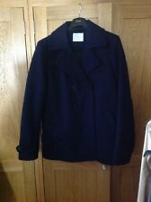 Topman (Selected Homme) Peacoat Extra Large XL Navy Blue Cot Jacket