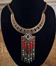Bohemian/ Gypsy /Boho Metal Gold Necklace /Festival Hippie Ethnic NEW