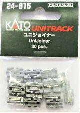 20 pcs 00Kato N-scale or HO-scale UniTrack UniJoiner connectors 24-815