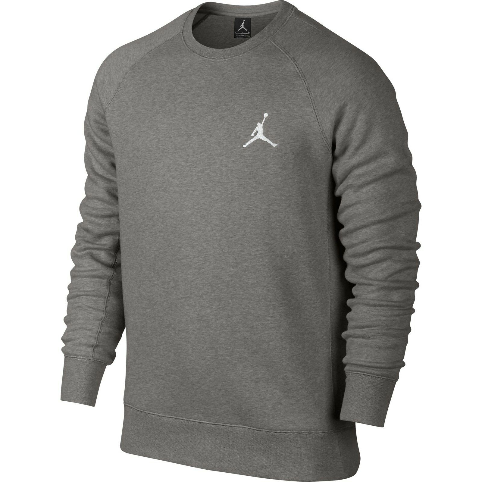Jordan Flight Crew Long Sleeve Men's Sweatshirt Grey White 823068-063