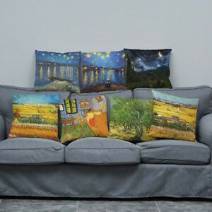 Home-Decor-Printed-Pillow-Case-Oil-Painting-Sofa-Waist-Office-Cushion-Cover