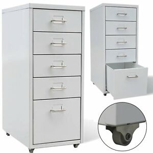 Image Is Loading Metal Office Cabinet 4 Small Drawers Filing