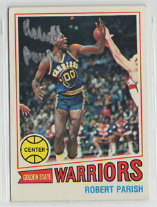 Robert Parish 1977 Topps autographed signed card Golden State Warriors