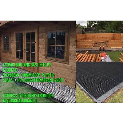 SHED BASE PLASTIC GRID RETURNS DISCOUNTED ECO BASE PAVING GRID KIT & MEMBRANE sm
