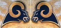 La Los Angeles Rams Left/rt. Face Set Nfl 3.5 Iron On Embroidered Patch Usa