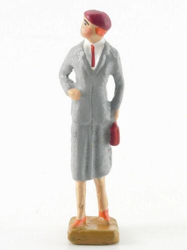 Metallguß für Spur 0 #379 Replika Reisende schlank mit rotem Hut
