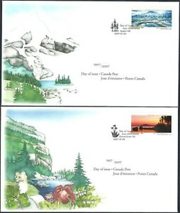 Canada   # 2223 & 2224  Both National Parks     Two New 2007 Unaddressed Covers