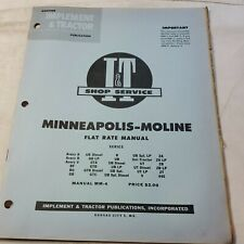 I Ampt Tractor Shop Flat Rate Manual Minneapolis Moline Avery Mm 4 R V Gta