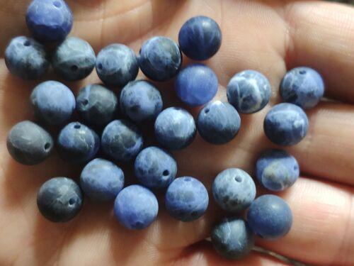10x matter sodalita Edelstein perlas bricolaje joyas pulseras 8mm