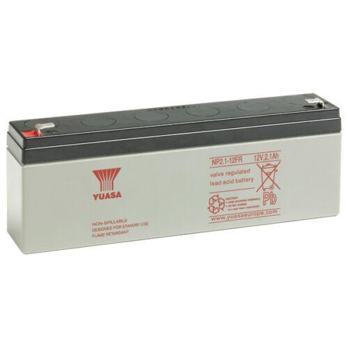 Batterie modélisme yuasa NP2.1-12 FR 12V 2.1ah  FLAMME RETARDANT UL26VO