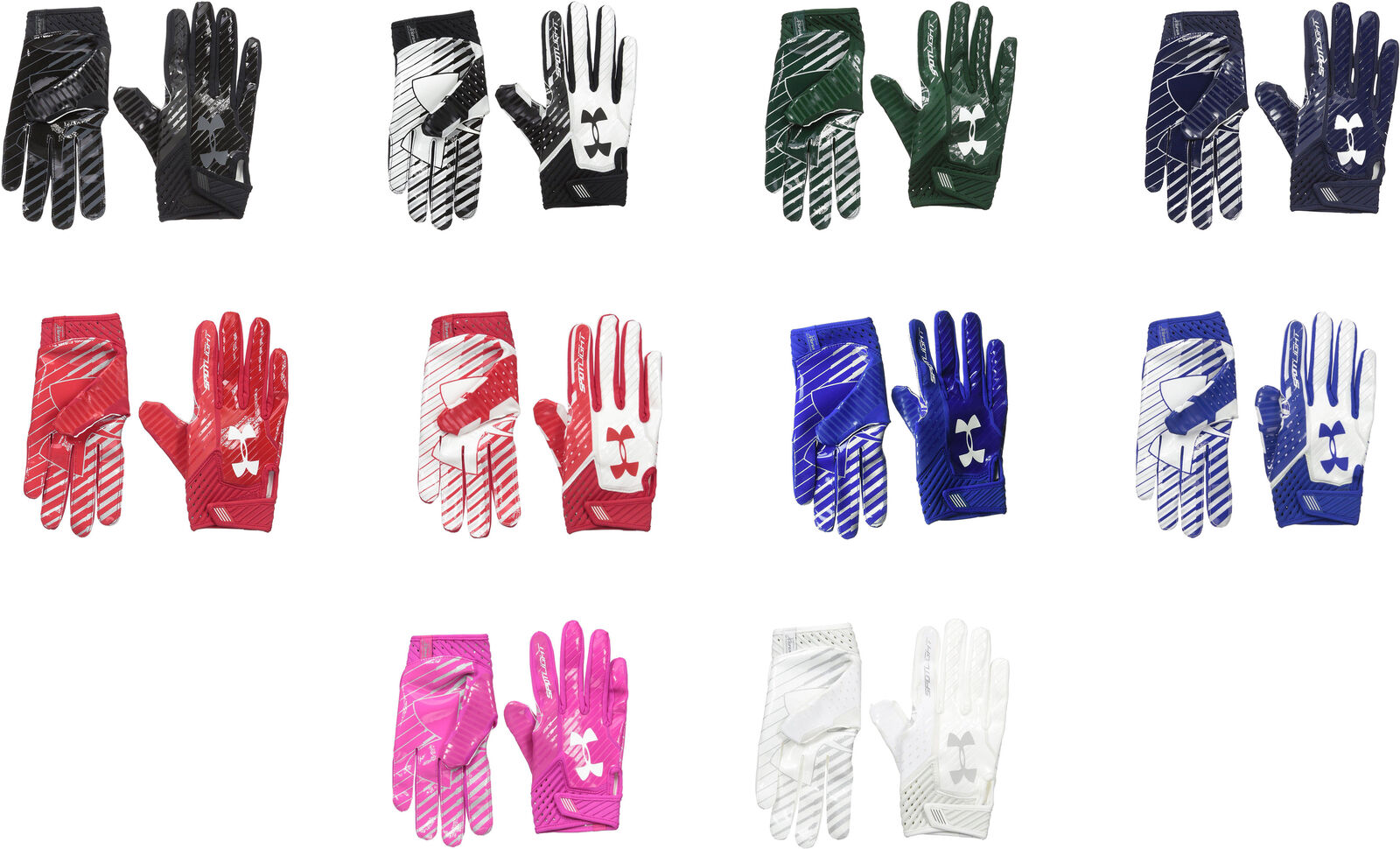 917a36d73f451 Details about Under Armour Men's Spotlight Football Gloves, 10 Colors