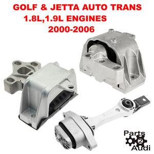 motor transmission mount set kit 3pcs 02 06 vw golf jetta. Black Bedroom Furniture Sets. Home Design Ideas