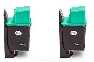 2x-Refill-Tintenpatronen-black-fuer-Deskjet-500P-510-520-530C-540C-550C-560C