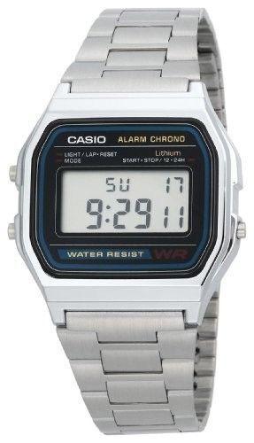 Reloj Casio A158WA ORIGINAL con GARANTIA Plateado Pulsera Caballero Retro A-158