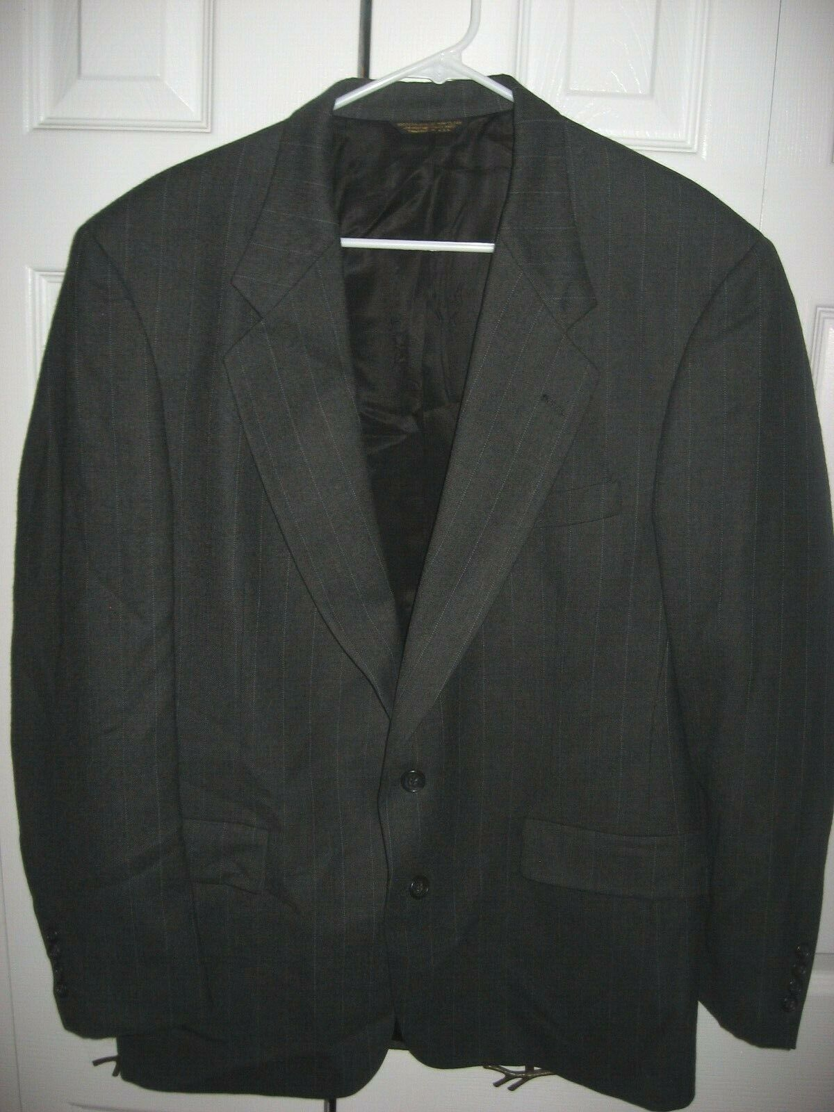 Austin Reed Mens Gray Black Suit 42l Nice Gem