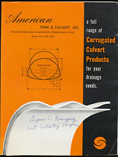 American Tank Amp Culvert Sales Brochure Corrugated Culvert Products