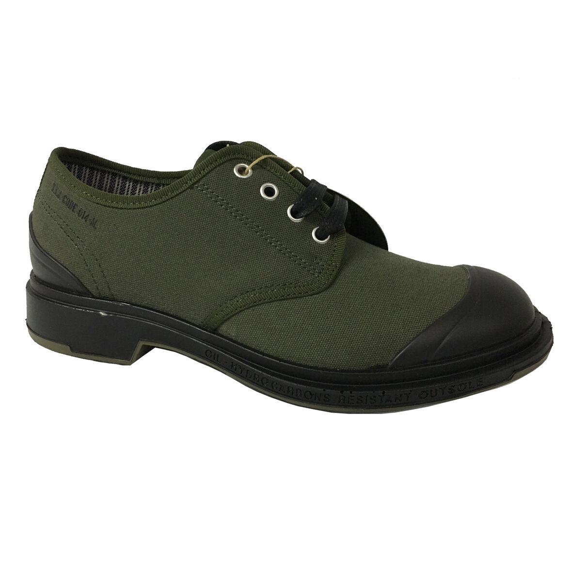 PEZZOL 1951 scarpa uomo in MONSTER canvas verde e gomma mod MONSTER in 014FZ-49 699ef5
