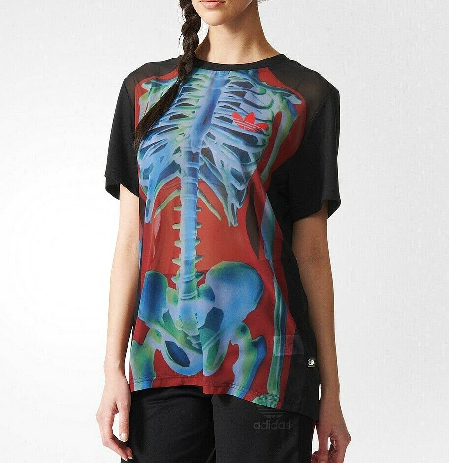 Adidas Originals Rita Ora T-shirt Graphic Shirt Trefoil Logo Tee Sport weiß M 38