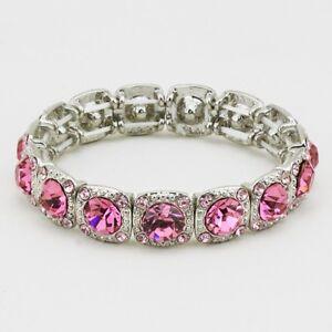 Pink and Purple Aurora Borealis Crystal Bracelet Crystal Jewelry Crystal bracelet Pink and Purple Bracelet Aurora Borealis Bracelet