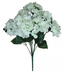 """7 Ivory Peony 20/"""" Bush New Artificial Silk Flower for All Occasion Decorations"""
