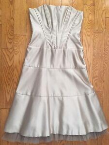 BCBG-Occasion-Satin-Strapless-Corset-Dress-Formal-Size-6