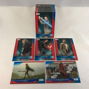 Wrappers Star Wars The Last Jedi Complete Base Set 100 Cards Blue Parallel