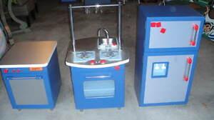 Extremely Rare Pottery Barn Kids Blue Kitchen Dishwasher