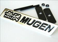 Mugen Chrome Grill Badge Black Lettering Brand New S2000 Civic Type R Integra