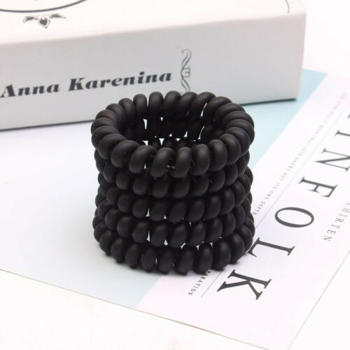 Concise Rubber Telephone Wire Hair Head Elastic Bands Spiral Slinky Hair Ties