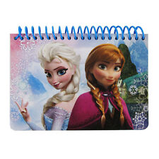Brand New Disney Frozen Elsa Anna Blue Notebook Memo Book Autograph Book