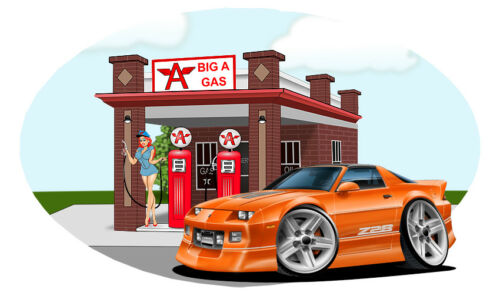 1988 Camaro z28 Big A Gas Station Wall Decal Classic Muscle Car Man Cave Decor