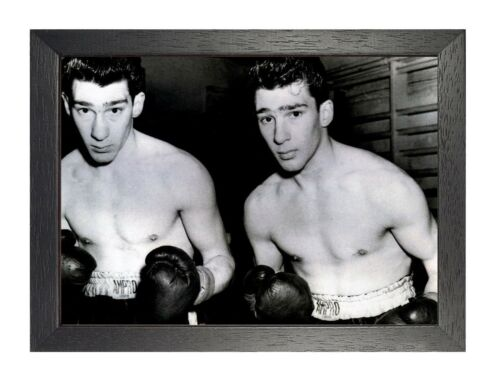 The Krays Boxing Twin Brothers English Criminals Film Poster Black White Photo