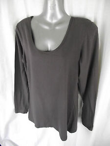 BNWT-Womens-Sz-16-Coco-Marle-Round-Neck-Rivers-Long-Sleeve-Stretch-Top-RRP-20